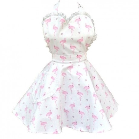 Pretty Flamingo Sweetheart Apron