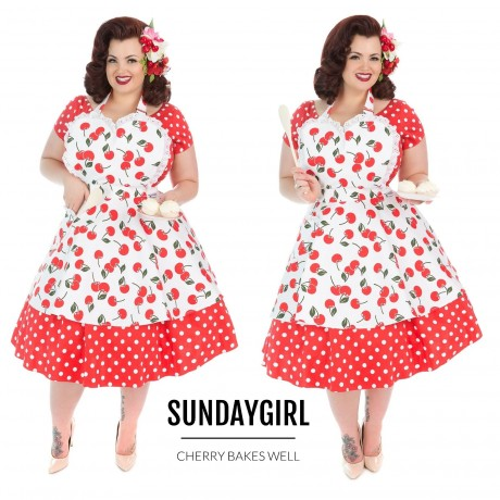 Cherry Bakes Well Seetheart Apron