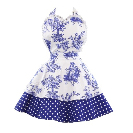 Let Them Eat Cake Royal Blue Sweetheart Adult Apron