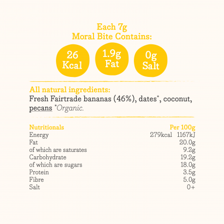 Banananut Bites Ingredients