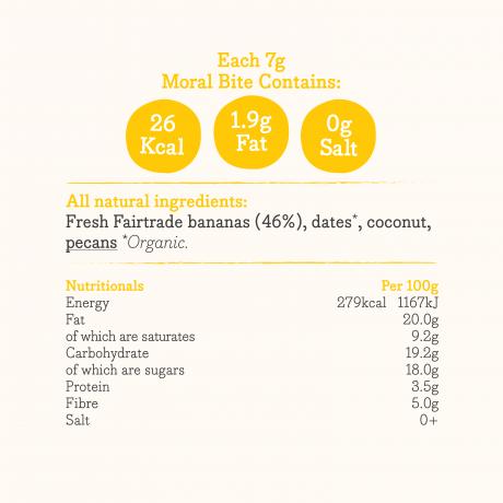 Banananut Bites Ingredients