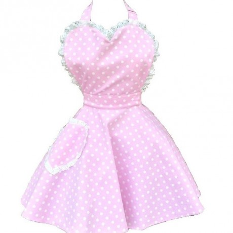 Deliciously Dotty Pink Sweetheart Apron