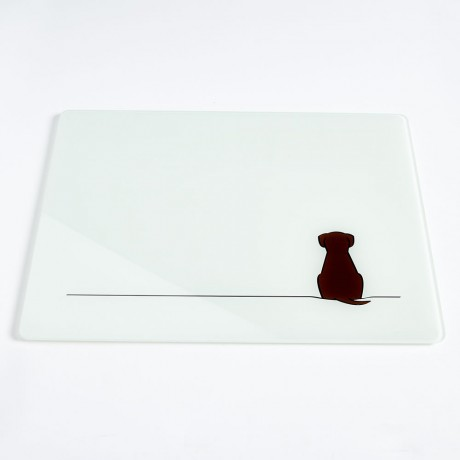 Sitting Dog Glass Worktop Saver