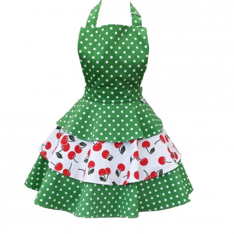 Cherry Bakes Well Rara Adult Apron