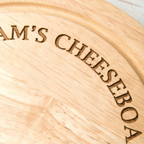 Personalised Curved Text Cheese Board Set
