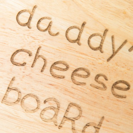 Personalised Daddy's Cheeseboard Set with Utensils