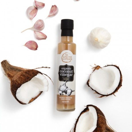 Organic Coconut Vinegar with Garlic 250 ml