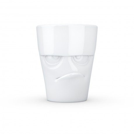 White 'Grumpy' Mug