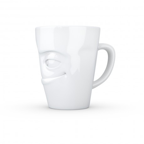 Quirky White Porcelain Mug