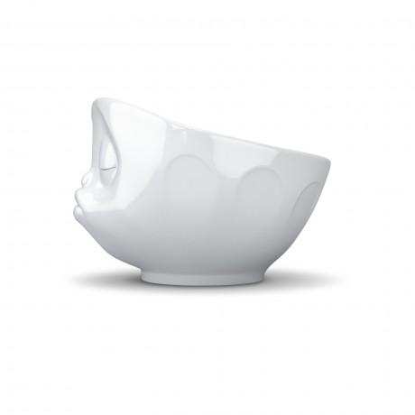 Side view of the White 'Kissing' Bowl
