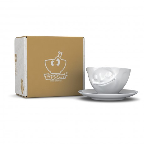 The 'Happy' Cup and Saucer with it's Gift Box