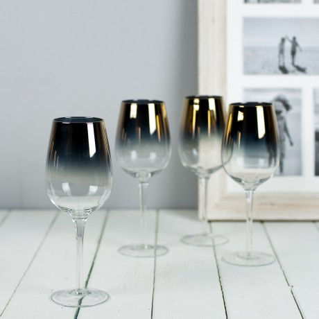 gold plated wine glasses