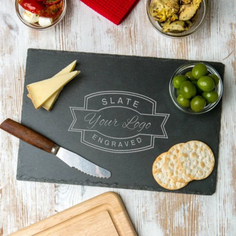 Custom Logo Engraved Slate Serving Board