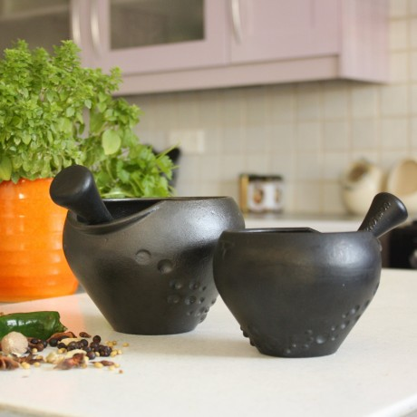 Cast Iron Pestle And Mortar
