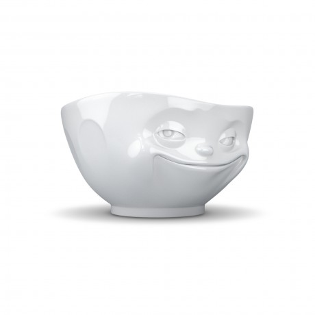 White 'Grinning' Porceklain Bowl by Lovely Lane