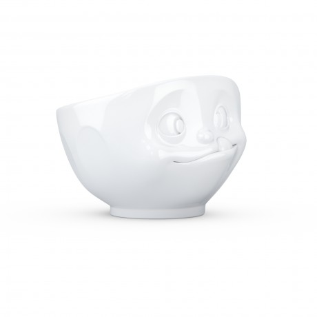 A fun gift in white porcelain - 'Tasty' Bowl
