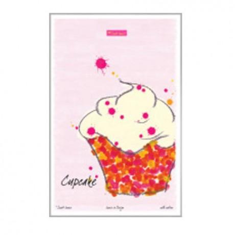 Cupcake Tea Towel in wonderful colours