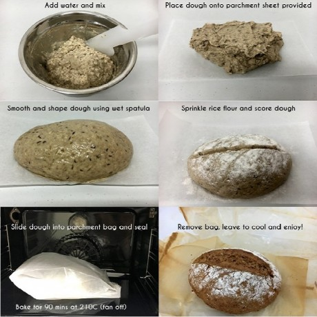 4 Gluten Free Artisan Sourdough Bread Mixes - Super Sourdough