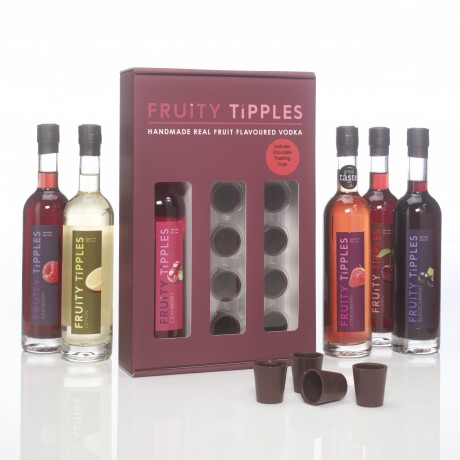 Flavoured Vodka and Chocolate Tasting Cup Gift Set