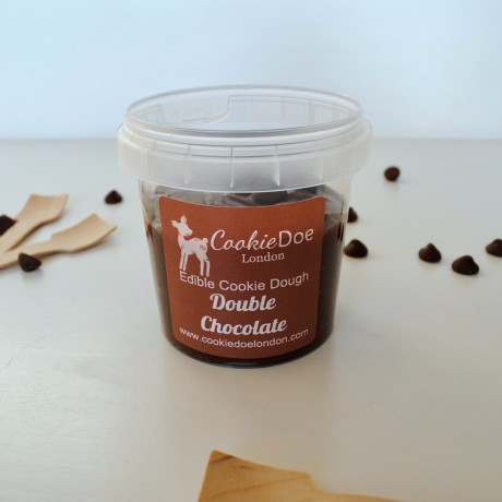 Double Chocolate Chip Edible Cookie Dough - Single Serving (4 Pots)