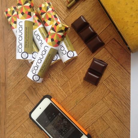 Minty Caramel Raw Vegan Chocolate Bars (6 pack)