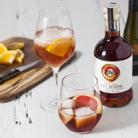 Five Mini Negroni Gin Cocktails