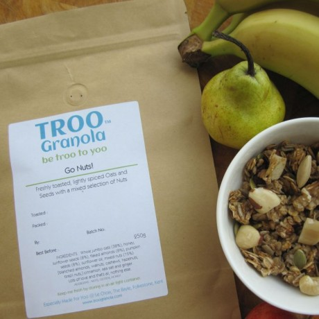 A bowl of yummy Go Nuts! TrooGranola