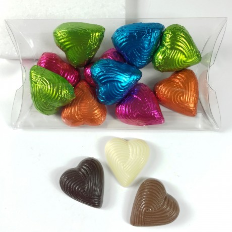 cocoapod foiled hearts in pouch