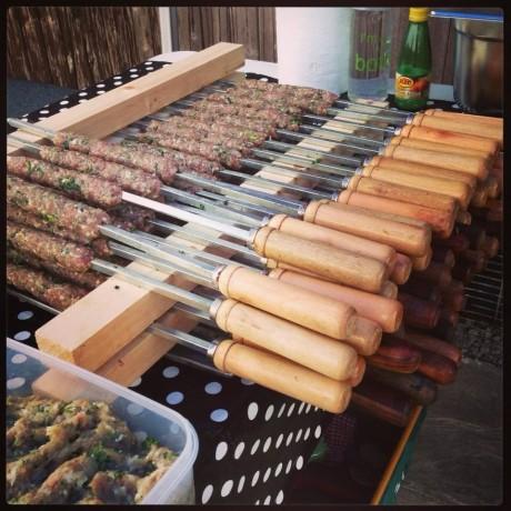 Five Professional Kebab Skewers: 53cm Long