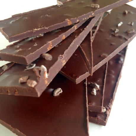Handmade Dark Chocolate Shards With Roasted Cocoa Nibs