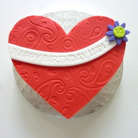 Heart Letterbox Cake