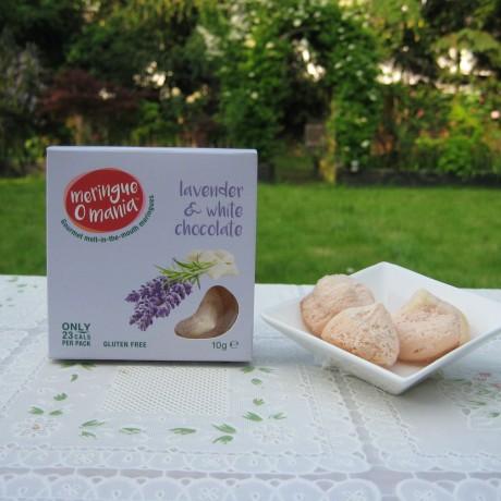 Lavender & White Chocolate Meringues - Small Box (10g)