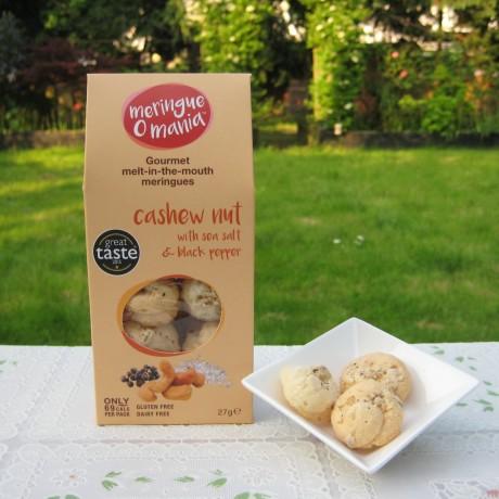 Cashew Nut with Sea Salt & Black Pepper Meringues - Large Box (27g)