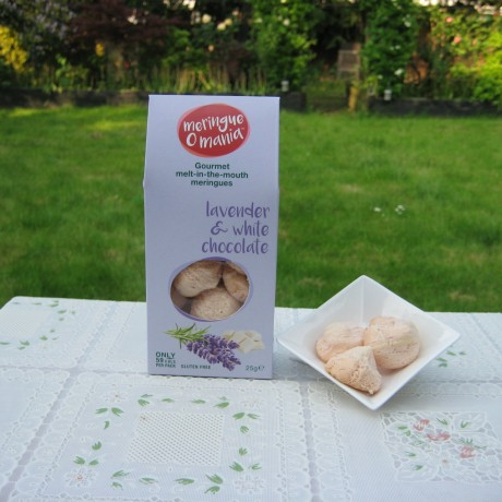 Lavender & White Chocolate Meringues - Large Box (25g)