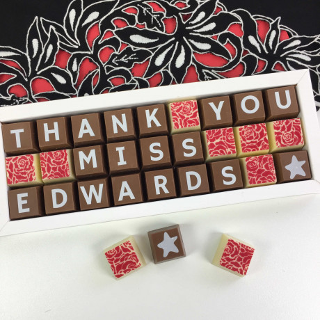 cocoapod Personalised Thank You Teacher Box of Chocolates