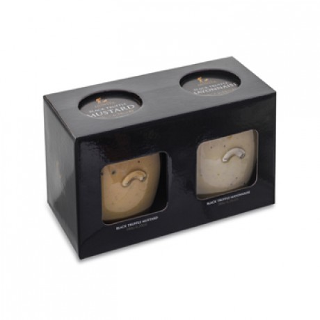 Condiment Gift Set; Black Truffle Mustard & Black Truffle Mayonnaise