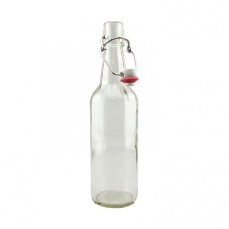 clear swing top bottles