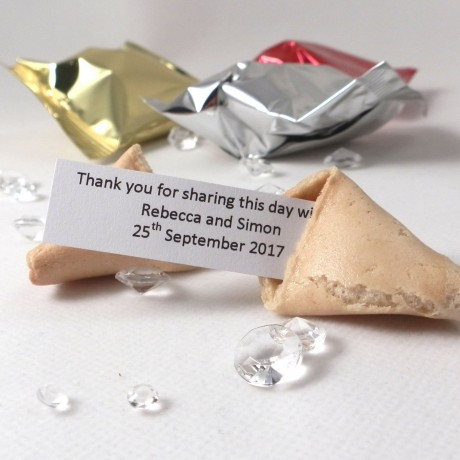 unusual wedding favours - wedding fortune cookies - personalised option