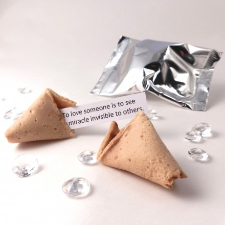 unusual wedding favours - wedding quotation wedding fortune cookies