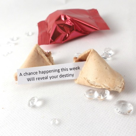 unusual wedding favours - wedding fortune cookies