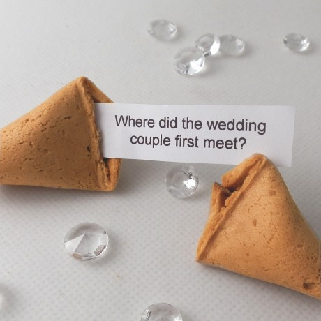 Wedding Icebreaker Fortune Cookies