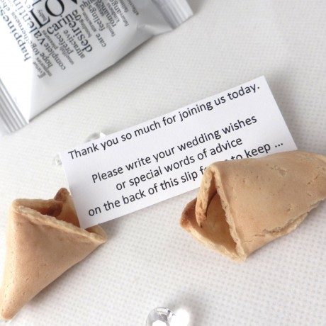 wedding wishes wedding fortune cookies - unusual wedding favours