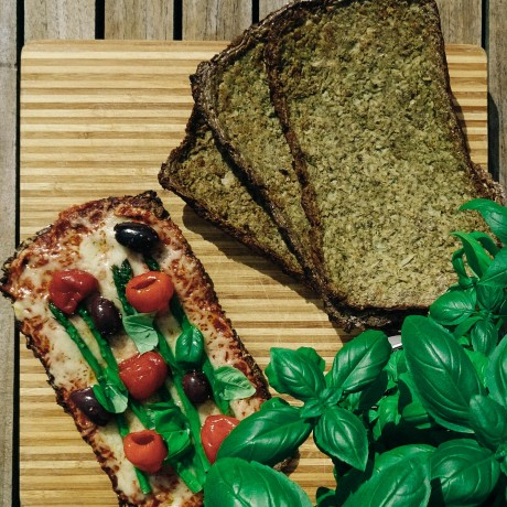 More delicious CauliCrust pizza using the Italian Herb base