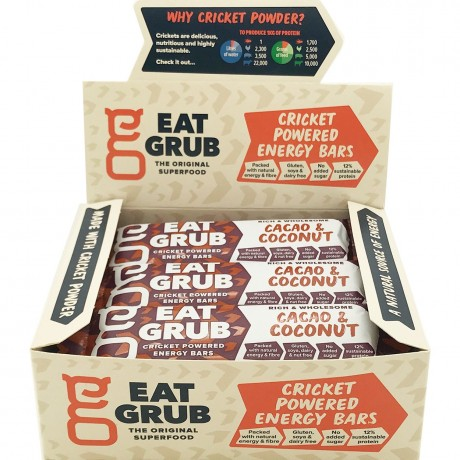 Cacao & Coconut Cricket Powered Energy Bars (12 pack)