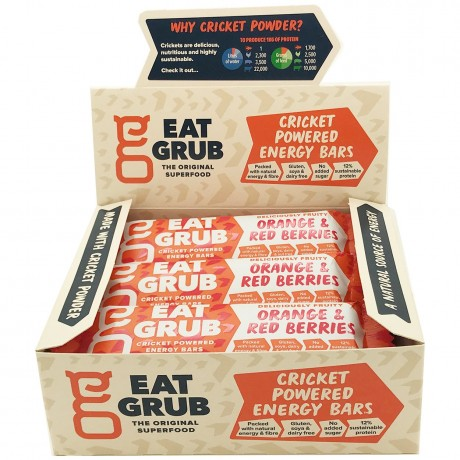 Orange & Red Berries Cricket Powered Energy Bars (12 packs)