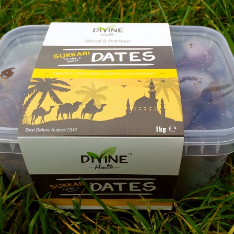 Large Sukkari Dates - 100% Organic Premium Madinah Rotab Superfood