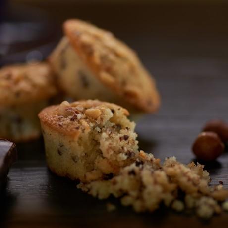 Dark Chocolate & Hazelnut Friands (Gluten Free)