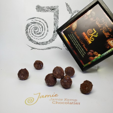 Salted Caramel Triple Truffle Dark Chocolate Box (8 Truffles)
