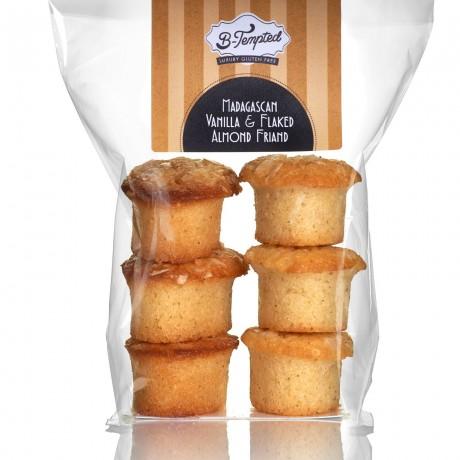 Madagascan Vanilla & Flaked Almond Friands (Gluten Free)