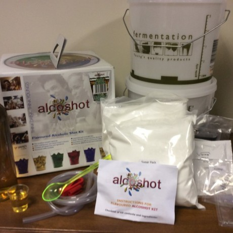 Alcoshot starter kit showing contents